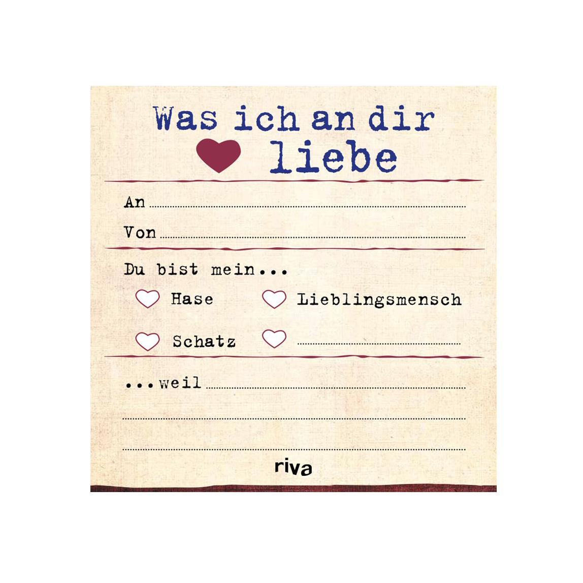 Was ich an dir liebe - der Notizblock
